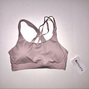 Athlete run free bra NWT mauve pink large